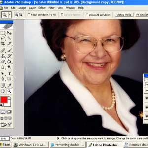 Wie man in Photoshop ein Doppelkinn loszuwerden