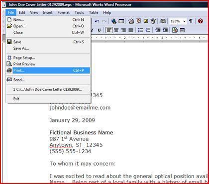 microsoft works-textverarbeitung