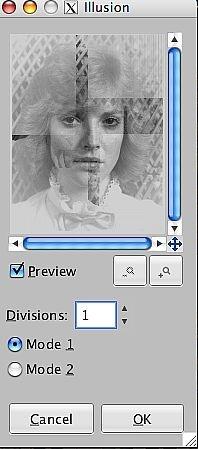 Verwendung den Illusion-Effekt in GIMP