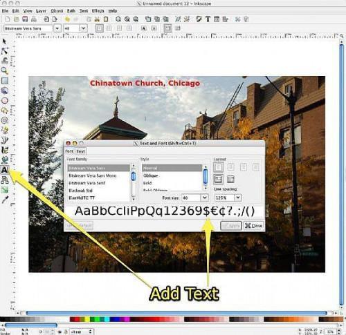 Verwenden von Inkscape für Seite Make-up