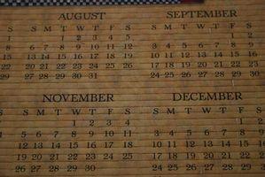 Wie man ein Wochenkalender Online