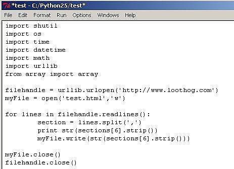 Wie man eine Webseite mit Python lesen