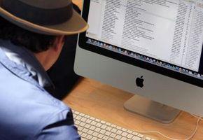 Schriftart-Farbeffekte & Messenger auf einem Mac