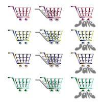 Ein Warenkorb Einkaufswagen-Symbol erstellen