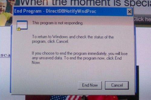 Wie ein gefrorenes Computerprogramm zu schließen